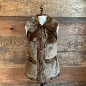 NWOT Rachel Zoe Faux Fur Vest